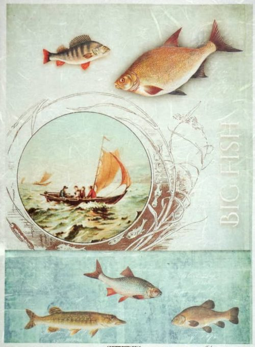 Rice Paper - Vintage Hobby Fishing