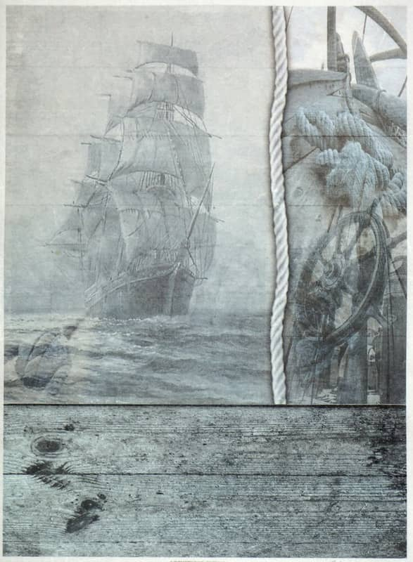 Rice Paper - Vintage Sailboat Blue