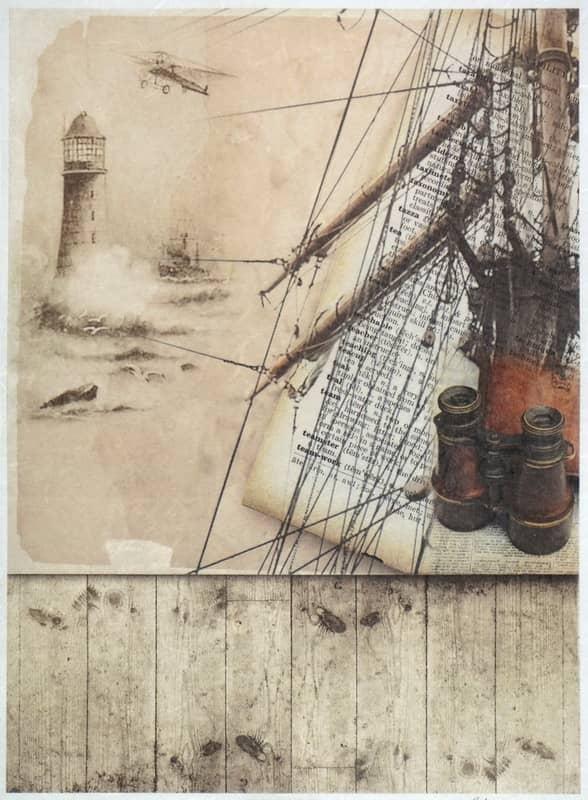 Rice Paper - Vintage at Sea