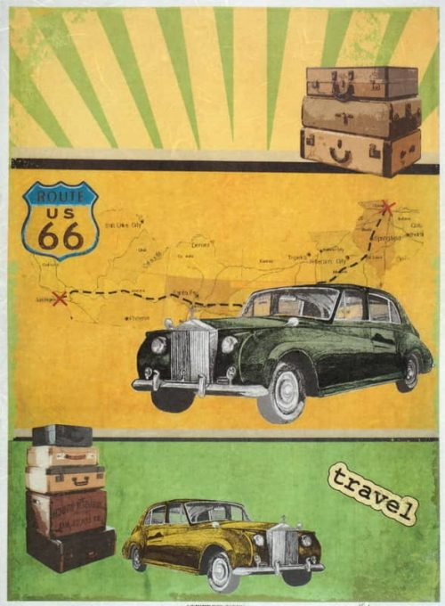 Rice Paper - Vintage Route 66