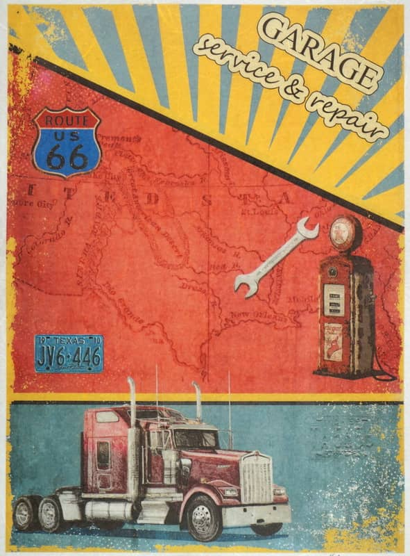 Rice Paper - Garage Route 66 Vintage