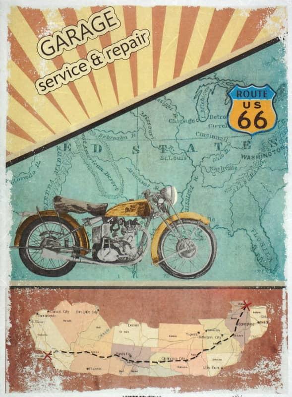Rice Paper - Vintage Garage Route 66