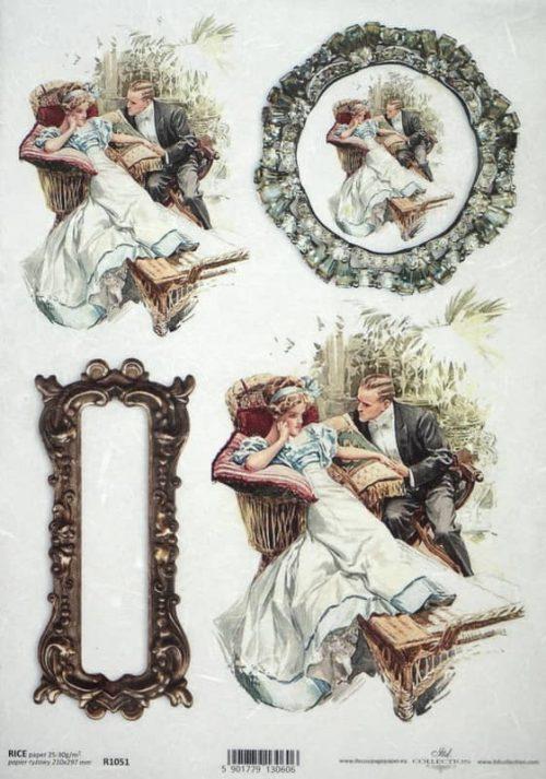 Rice Paper - Vintage Romantic Date 2