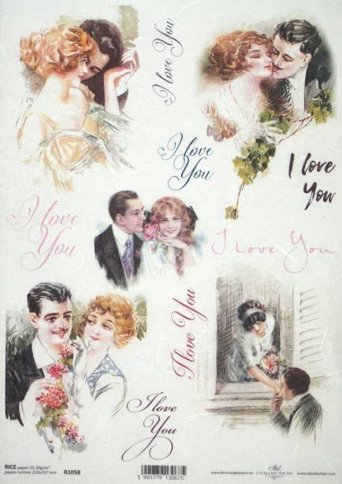 Rice Paper - Vintage I Love You 2