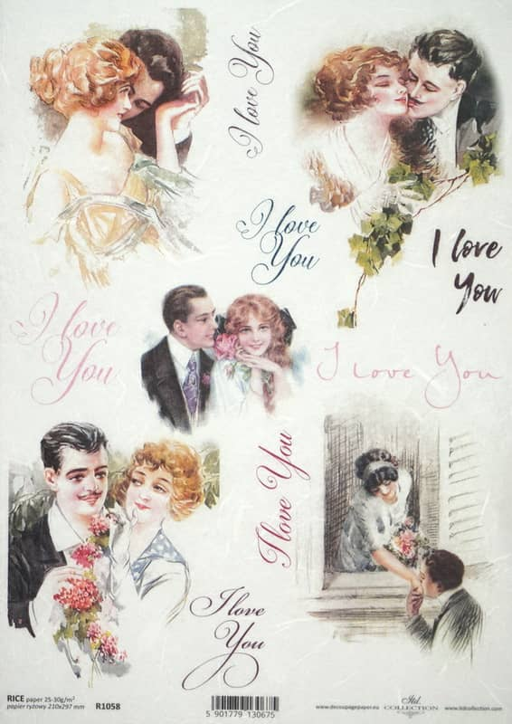 Rice Paper - Vintage I Love You 2