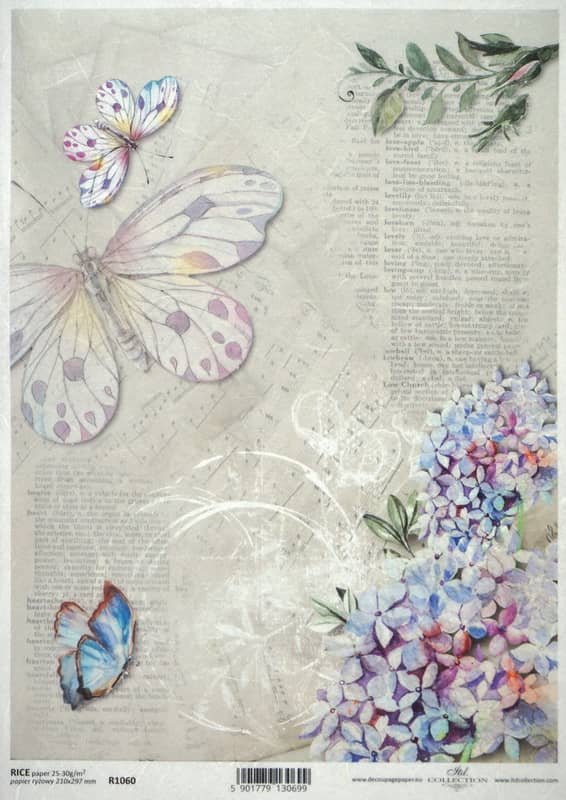 Rice Paper - Vintage Purple Garden