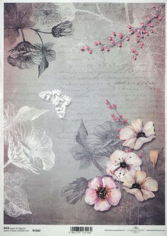Rice Paper - Vintage Pink Garden