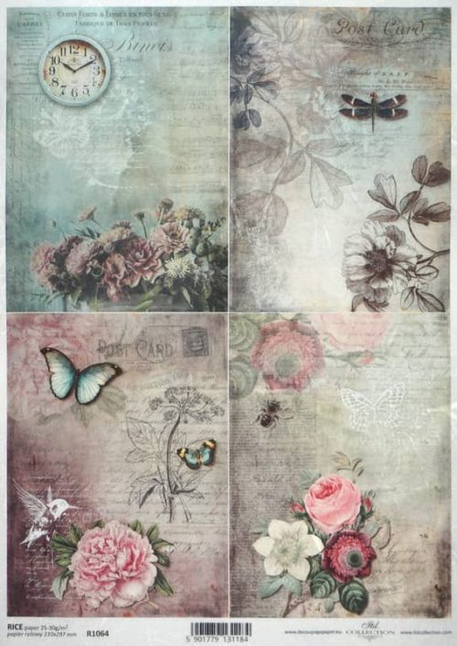 Rice Paper - Vintage Gardens Small