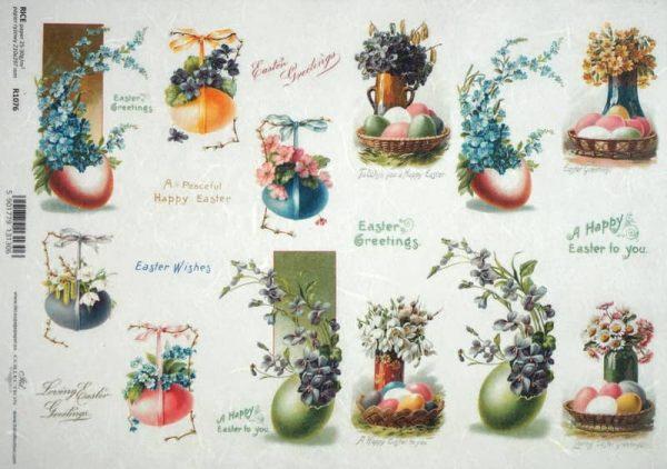 Rice Paper - Vintage Happy Easter