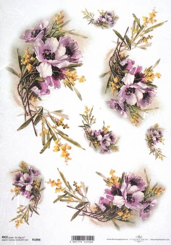 Rice Paper - Vintage Pasque-flower