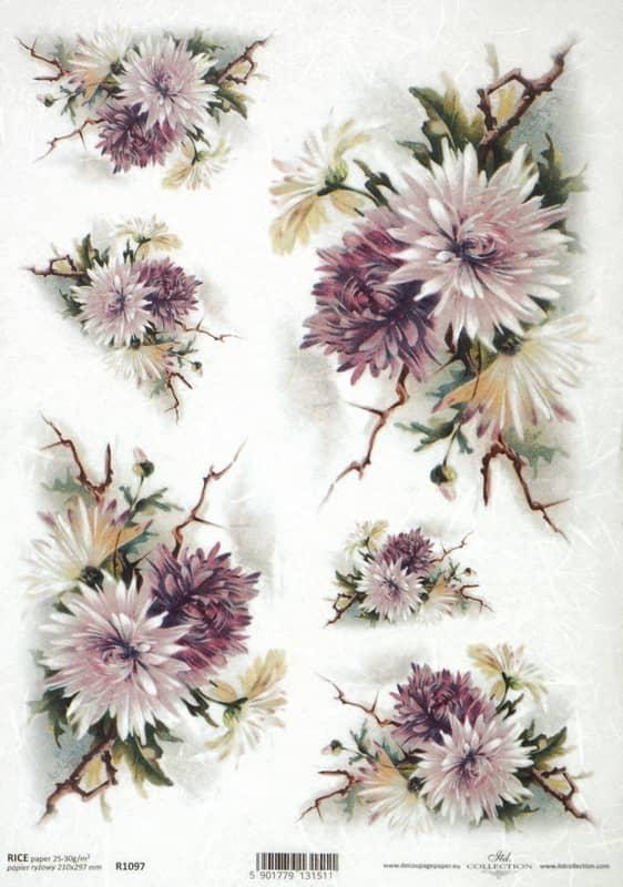 Rice Paper - Vintage Chrysanthemum