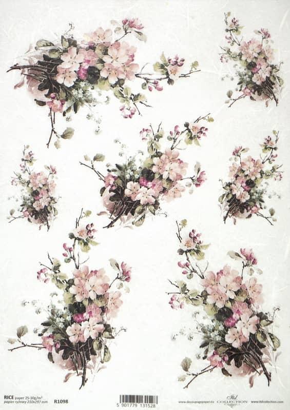 Rice Paper - Vintage Blossom Bouquet