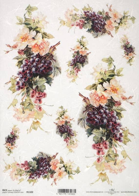 Rice Paper - Vintage Gape & Flower