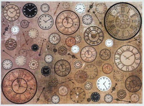 Rice Paper - Vintage Clocks