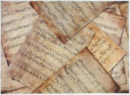 Rice Paper - Vintage Music sheets