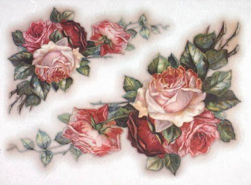 Rice Paper - Vintage Painted Rose