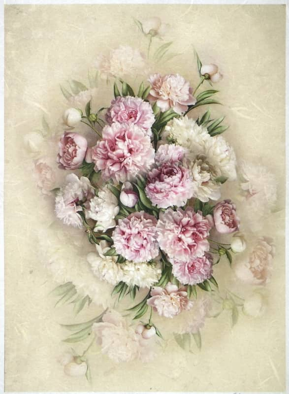 Rice Paper - Bouquet of Peony-
