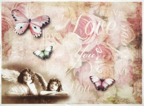 Rice Paper - Angels and Butterflies Love-