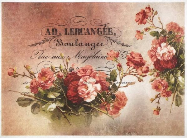 Rice Paper - Boulanger Red Roses