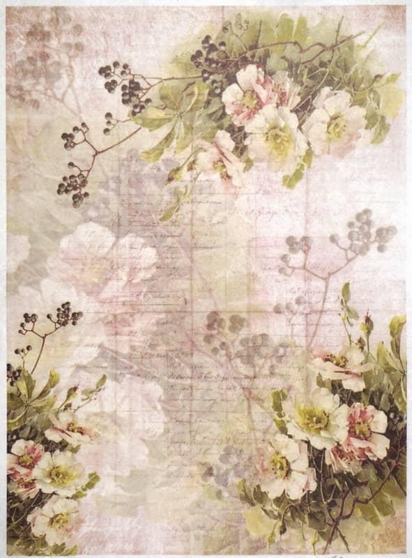 Rice Paper - Flower Wallpaper Multi