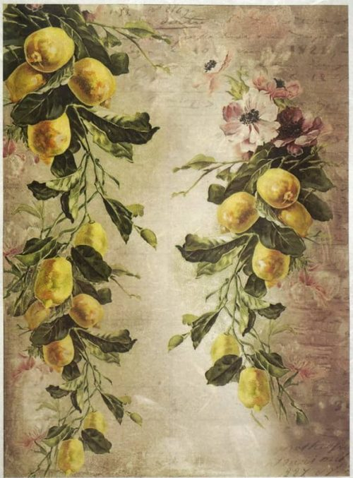 Rice Paper - Lemon Wallpaper