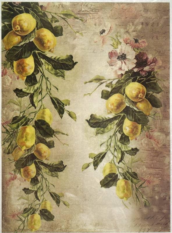 Rice Paper - Lemon Wallpaper