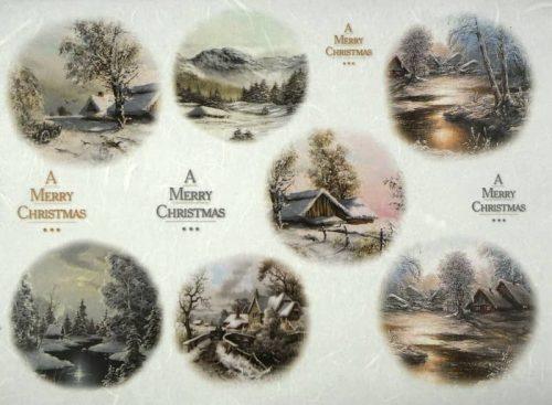 Rice Paper - Winter villages