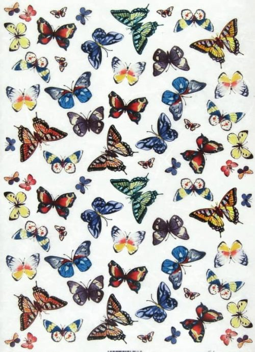 Rice Paper - Colorful Butterflies