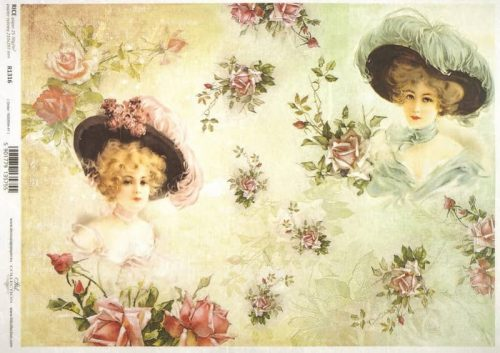 Rice Paper - Pink and Green Friends