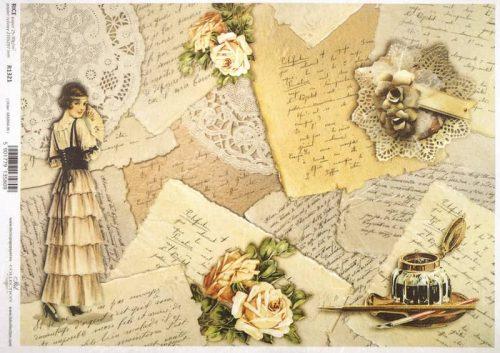 Rice Paper - Vintage Love letters