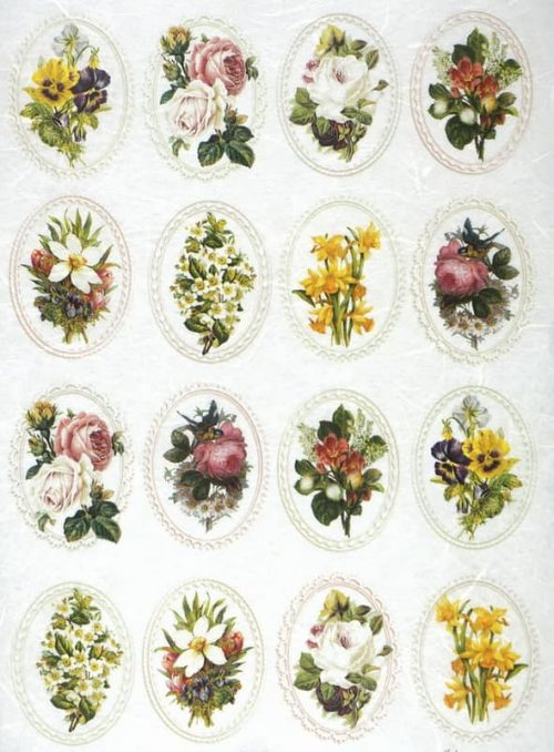Rice Paper - Flowers in Frames