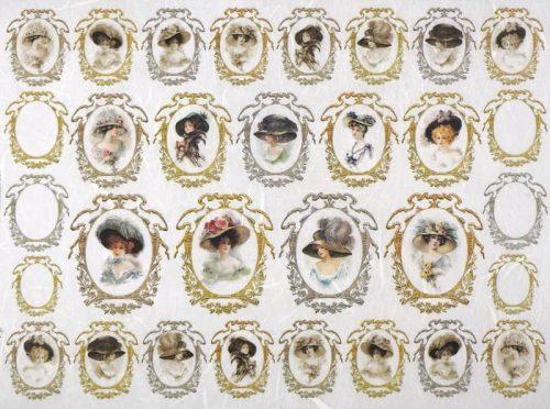 Rice Paper - Ladies in Frames