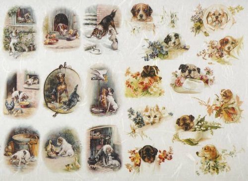 Rice Paper - Dogs on the Farm