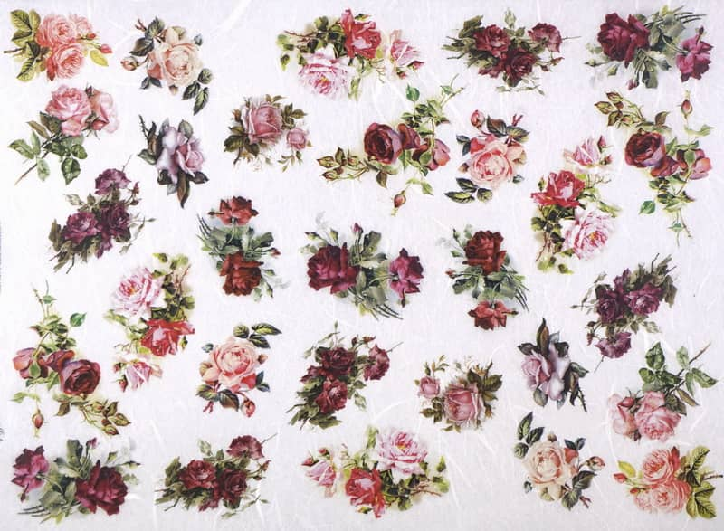 Rice Paper - Small Roses