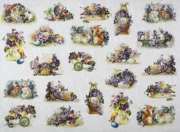 Rice Paper - Easter Rabbits