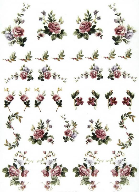 Rice Paper - Pretty Flowers