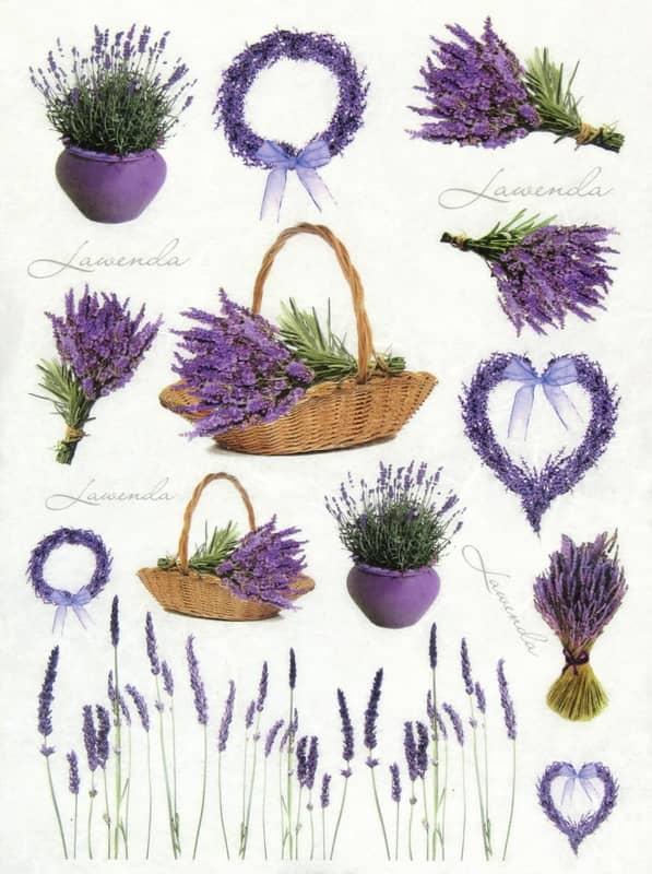 Rice Paper - Lavender in basket