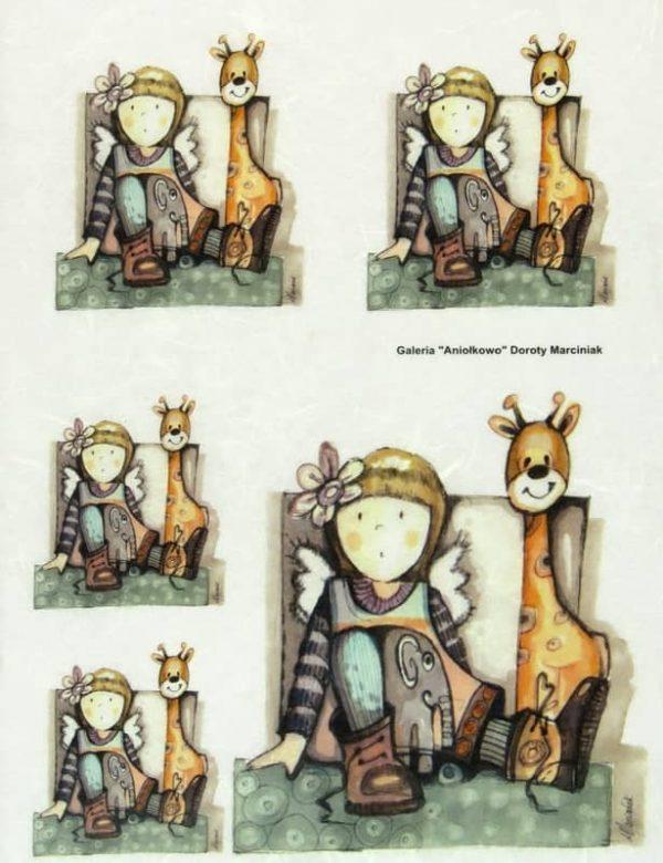 Rice Paper - Angel and Giraffe