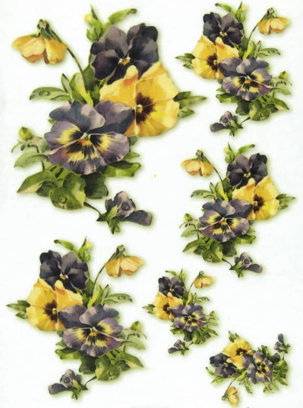 Rice Paper - Yellow Pansy