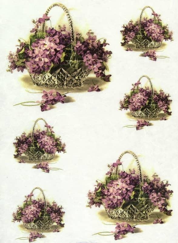Rice Paper - Violet in Basket