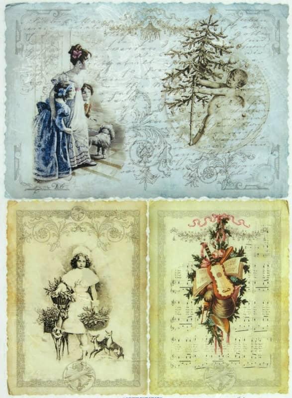 Rice Paper - Vintage X-mas Cards 2