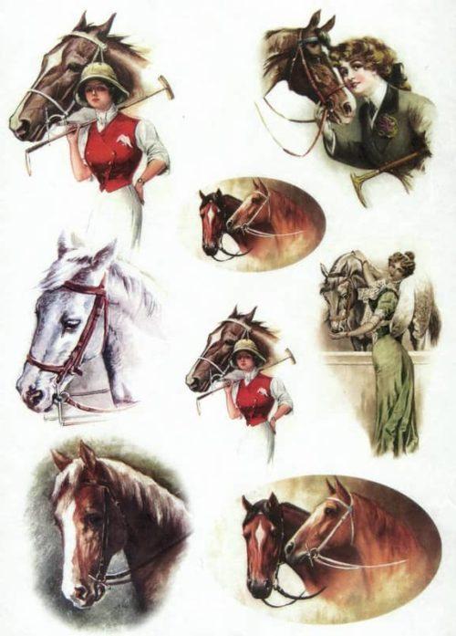 Rice Paper - Horses