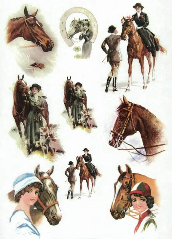 Rice Paper - Horses and Riders