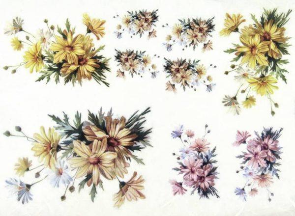 Rice Paper - Chrysanthemum Bouquet