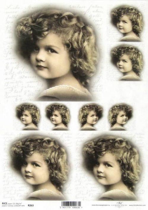 Rice Paper - Little girl face
