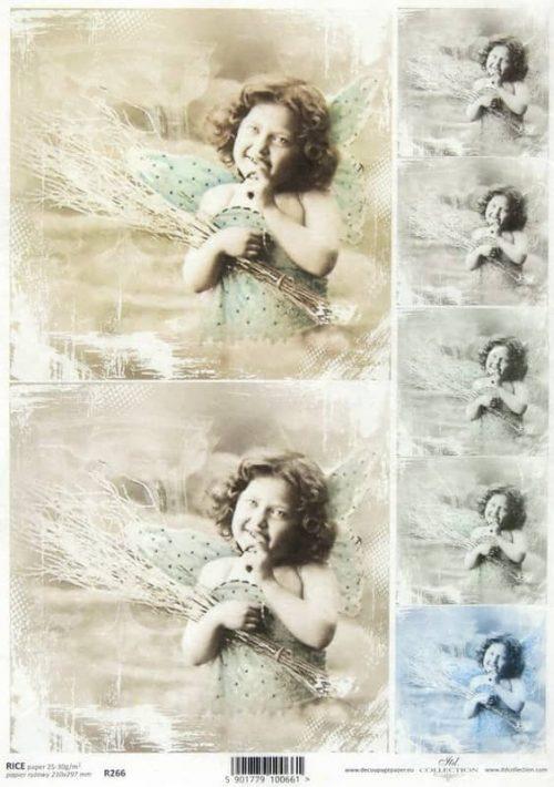 Rice Paper - Vintage Smiling Angel