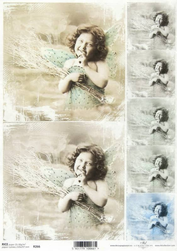 Rice Paper - Vintage Smiling Angel