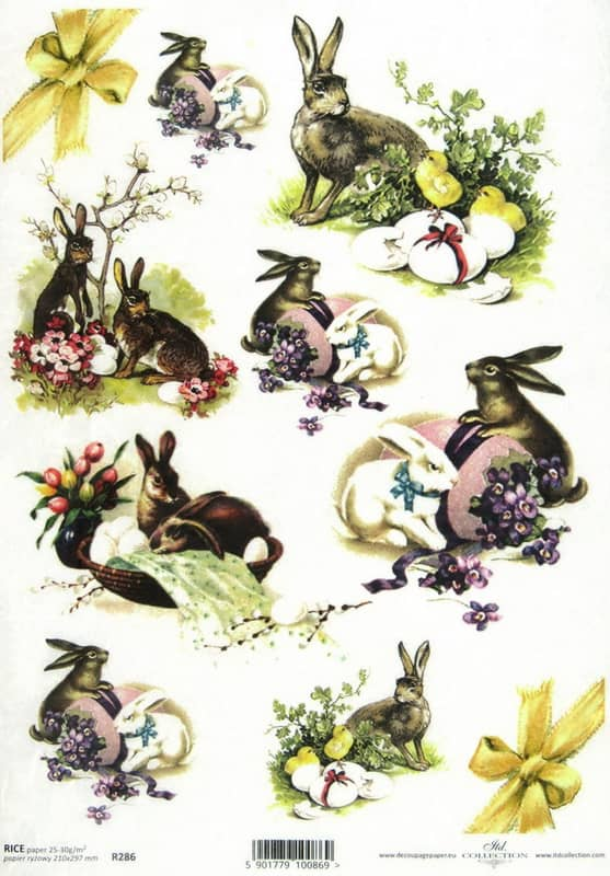 Rice Paper - Easter bunnies