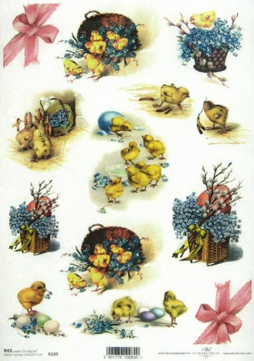 Rice Paper - Easter Chicks
