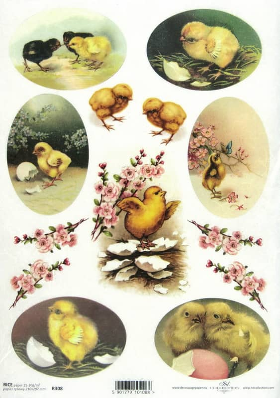Rice Paper - Easter Chickens